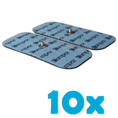10 sztuk compex elektrody samoprzylepne pojedynczy klips 5x10 cm paczka
