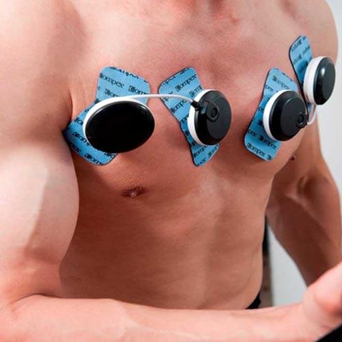 jak podpiąć elektrody compex mięśnie klatki piersiowej