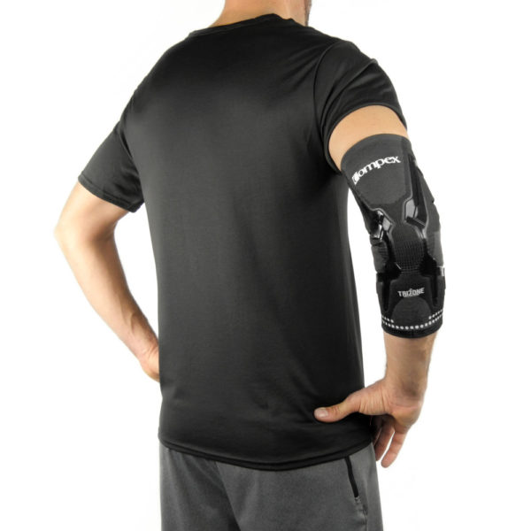 Stabilizator Łokcia Compex TRIZONE ARM - wido z tyłu ręki