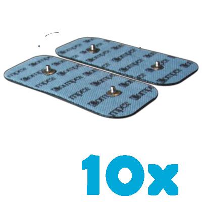 10 opakowań compex elektrody samoprzylepne podwójny klips 5x10 cm