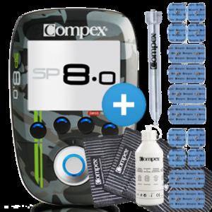 Elektrostymulator Compex SP 8.0 WOD Edition + Dodatkowe Elektrody + Motor Point Pen + Dodatkowe strapy + żel