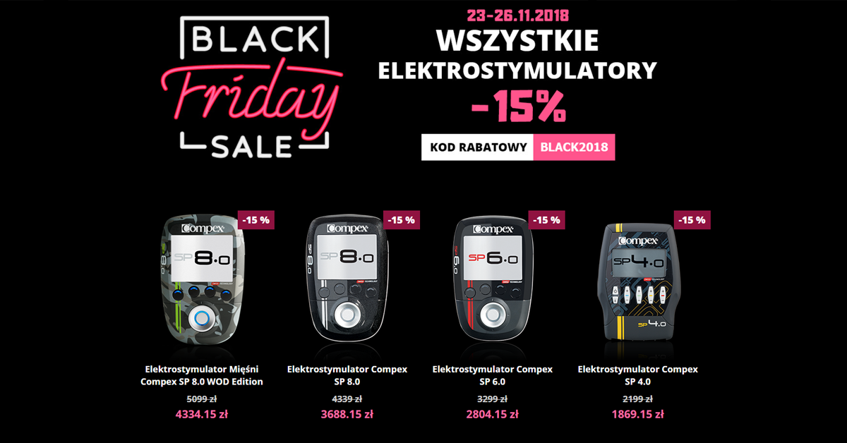 BLACKFRIDAY 2018 elektrostymulatory compex