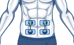 compex electrodes stomach