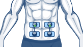 electrodes stomach compex