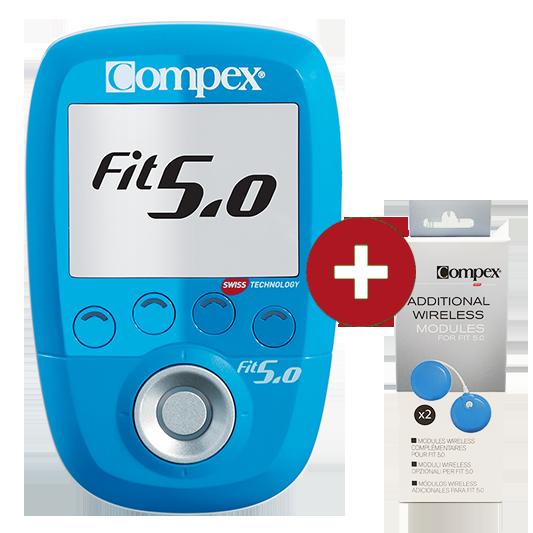 Elektrostymulator-Compex-FIT 50 dodatkowe moduly upgrade 4 kanaly