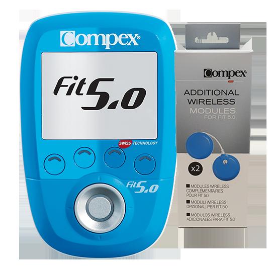 elektrostymulator compex fit50 z dodatkowymi modulami upgrade do elektrostymulator 4-kanalowy