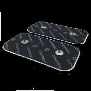 25 paczek czarnych elektrod compex 50x100 mm z dwoma pinami- compex easysnap 5x10 cm
