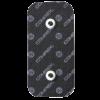 czarne elektrody compex 50x100 mm z podwojnym zatrzaskiem - compex easysnap 5x10 cm 2 piny