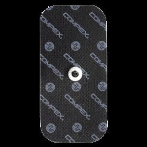 czarne elektrody compex 50x100 mm z pojedynczym pinem - compex easysnap 5x10 cm 1 pin