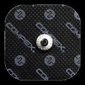 czarne elektrody compex 50x50 mm - compex easysnap 5x5 cm
