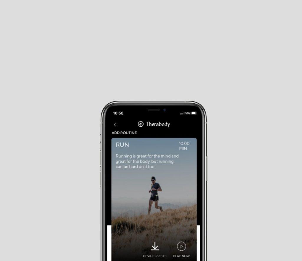 aplikacja na smarfon therabody