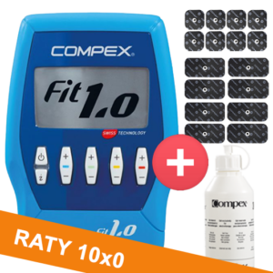 Elektrostymulator-Compex-fit-10-pakiet elektrod i zel