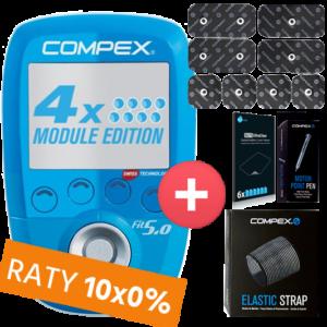 Compex FIT 50 - 4 kanały + Opaski, MotorPen, Ochrona ekranu, Elektrody